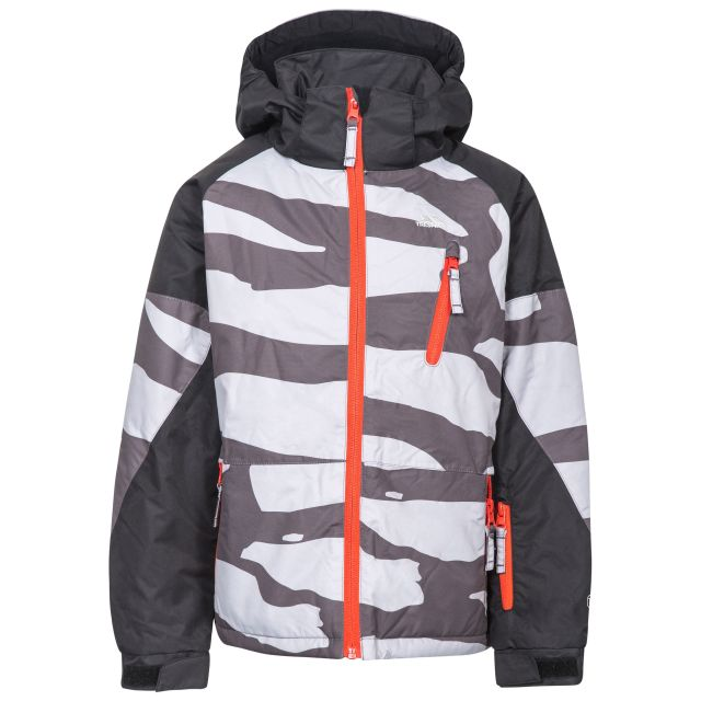 Shredded Boys' Ski Jacket in Grey