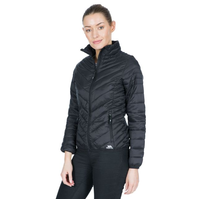 Simara Women's Padded Casual Jacket in Black