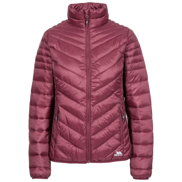 Simara Women's Padded Casual Jacket in Purple