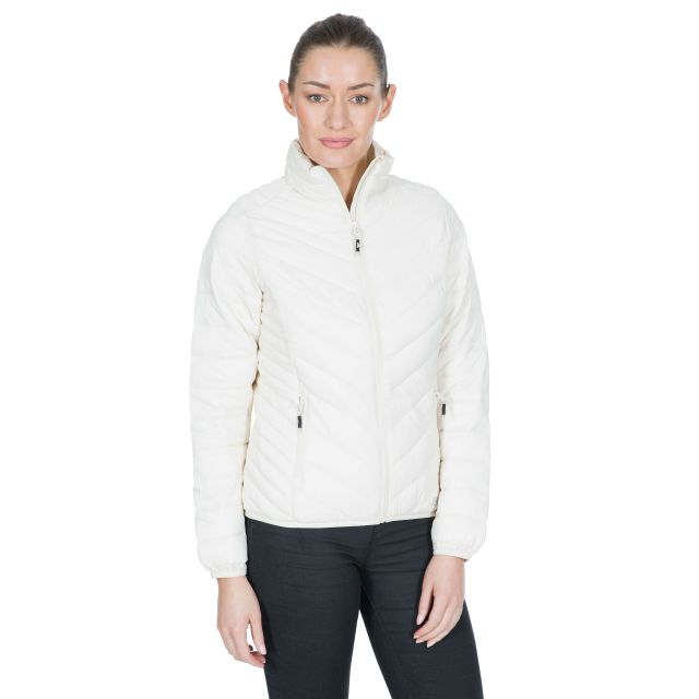 Simara Women's Padded Casual Jacket in White
