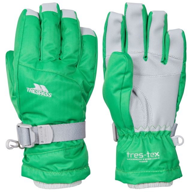 Simms Kids' Ski Gloves in Green