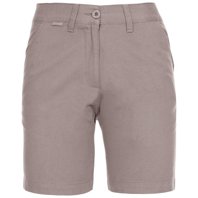 Sinitta Women's Cotton Shorts in Grey