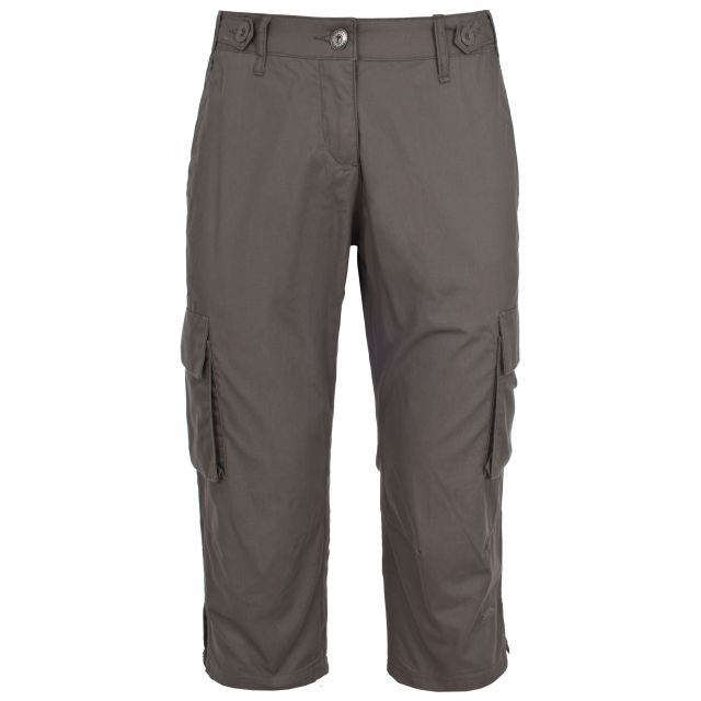 Sixpence Women's 3/4 Length Trousers in Brown