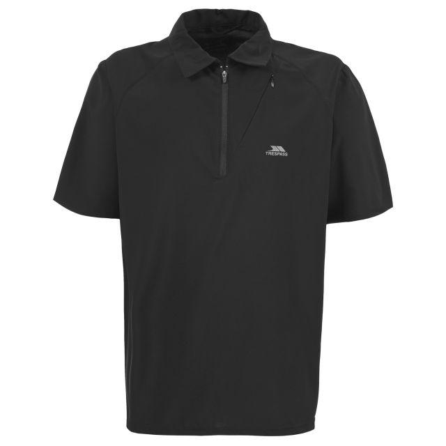 Skerra Men's Active Polo Top  in Black