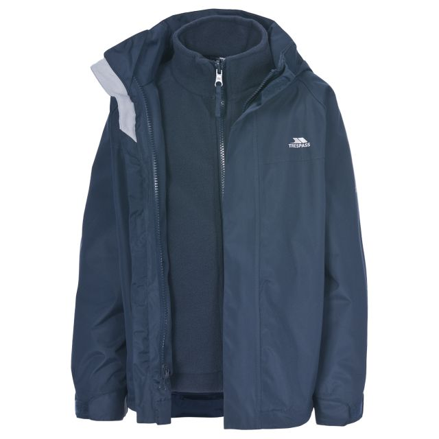 Skydive Kids' 3-in-1 Waterproof Jacket in Navy