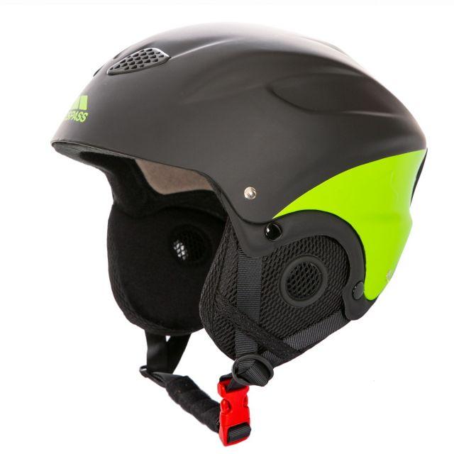 Skyhigh Adults' Ski Helmet in Black and Yellow, Angled view of helmet