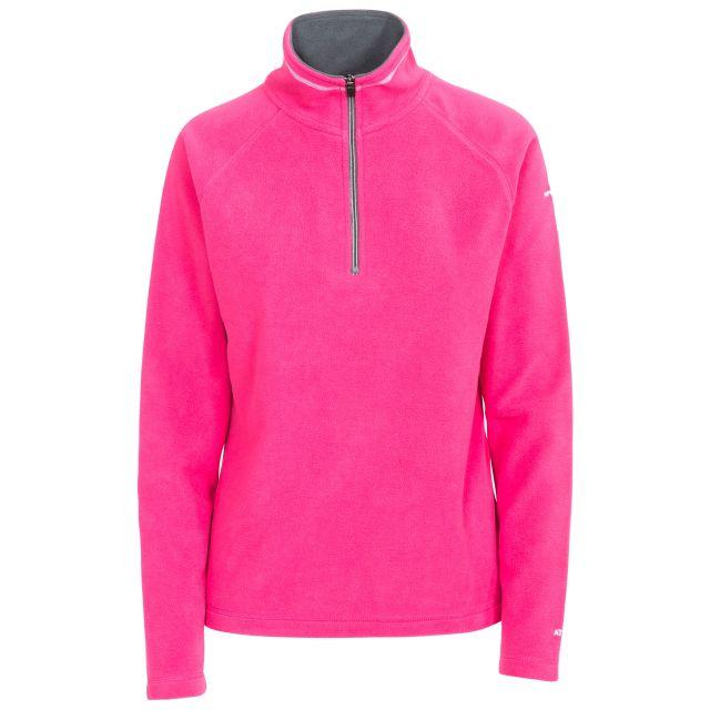 Skylar Women's Fleece in Hot Pink, Front view on mannequin