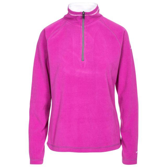 Skylar Women's Fleece in Purple, Front view on mannequin