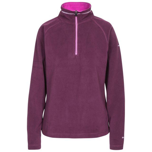 Skylar Women's Fleece in Dark Purple, Front view on mannequin