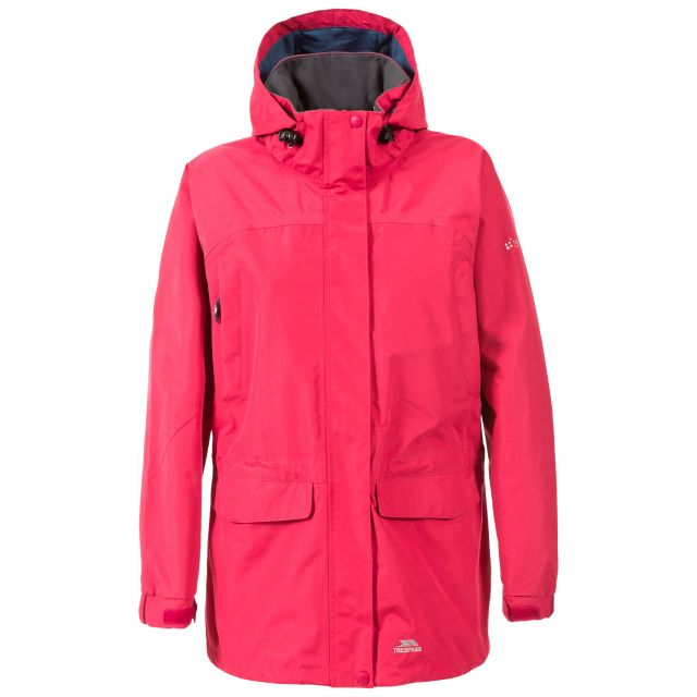 Skyrise Women's Hooded Waterproof Jacket in Pink