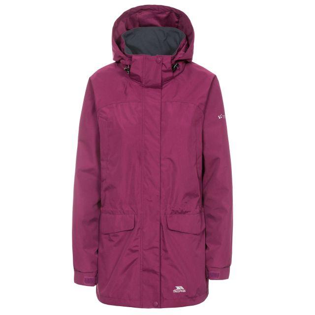 Skyrise Women's Hooded Waterproof Jacket in Burgundy