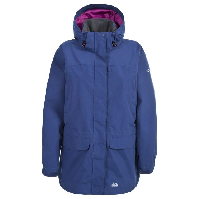 Skyrise Women's Hooded Waterproof Jacket in Navy