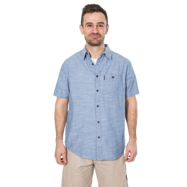 Slapton P Men's Short Sleeved Shirt in Blue