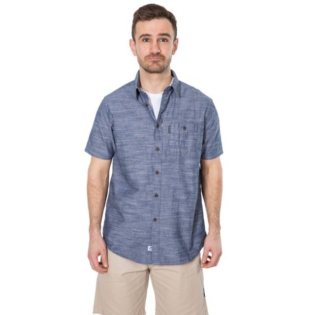 Slapton P Men's Short Sleeved Shirt in Navy