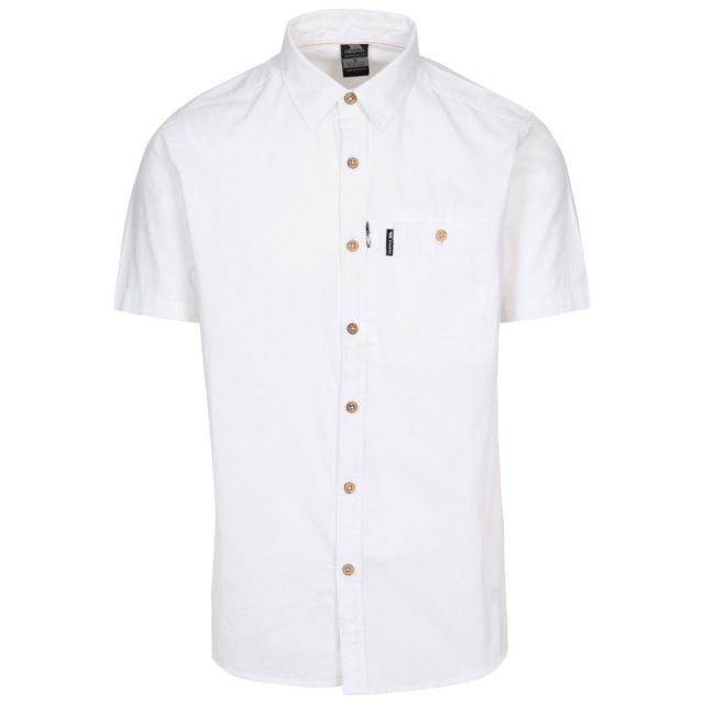 Slapton P Men's Short Sleeved Shirt in White
