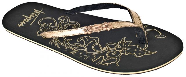 HIDDEN Women's Metallic Flip Flops in Gold