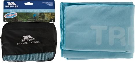 Anti Bacterial Microfiber Towel 75 x 130cm in Light Blue