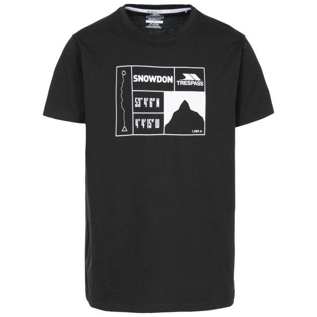 Snowdon Men's Printed Casual T-Shirt - BLK