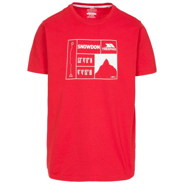 Snowdon Men's Printed Casual T-Shirt - RED