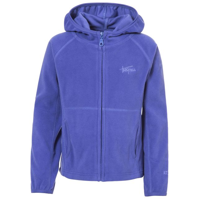 SNOZZLE Girls Full Zip Fleece Hoodie in Purple
