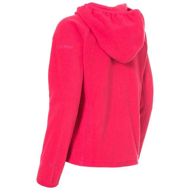 SNOZZLE Girls Full Zip Fleece Hoodie in Pink