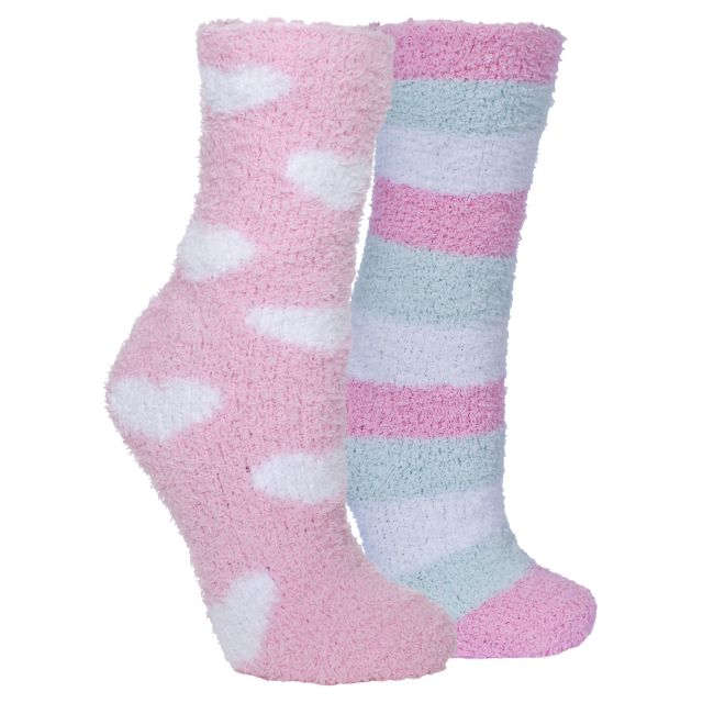 Snuggie Women's Fluffy Slipper Socks in Light Pink