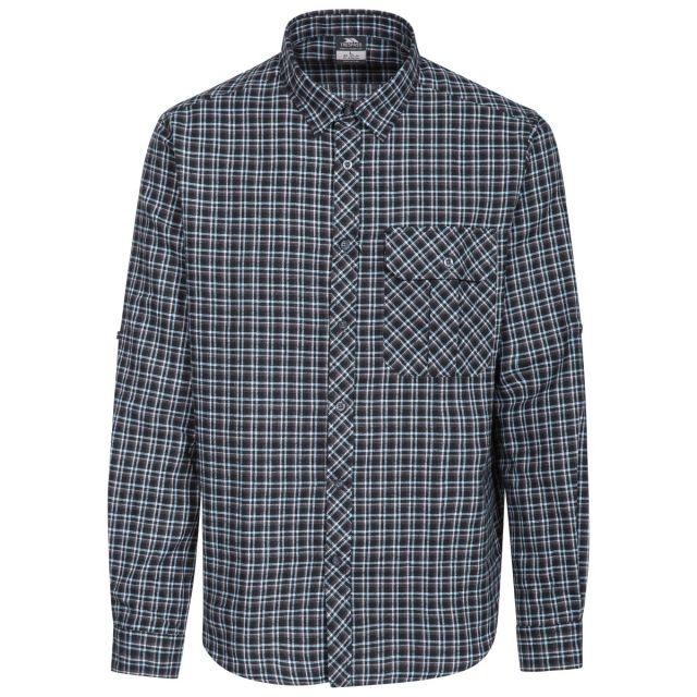 Snyper P Men's Long Sleeved Checked Shirt in Blue