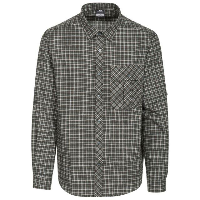 Snyper P Men's Long Sleeved Checked Shirt in Green