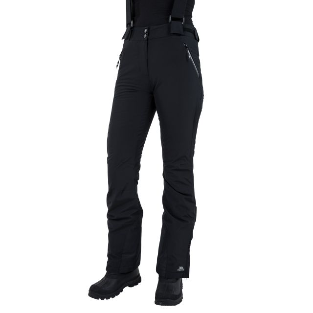 Solitude II Women's Waterproof Ski Trousers in Black
