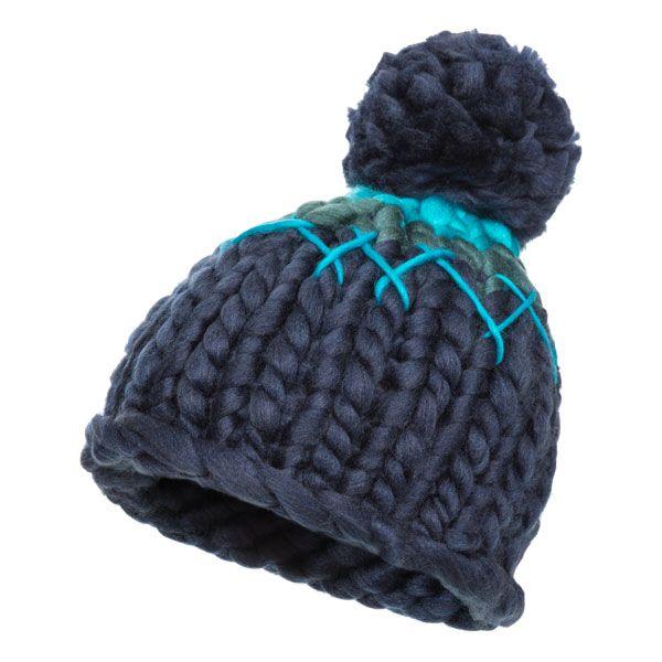 Sorcha Women's Knitted Bobble Hat in Navy