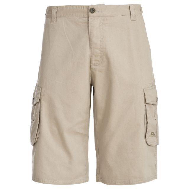 Spacey Mens Cargo Shorts in Beige