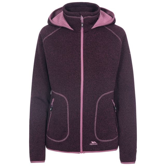 Splendor Women's Hooded Fleece Jacket in Purple