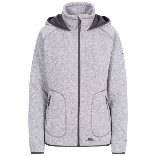 Splendor Women's Hooded Fleece Jacket in Grey