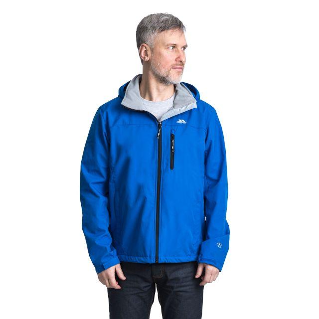 Stanford Men's Hooded Softshell Jacket in Blue