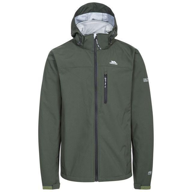 Stanford Men's Hooded Softshell Jacket in Khaki