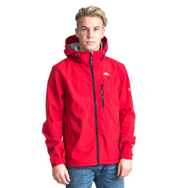 Stanford Men's Hooded Softshell Jacket - RED