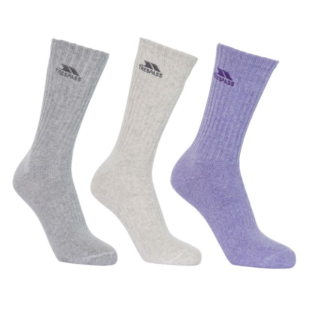 Stopford Women's Cushioned Casual Socks - 3 Pack in Assorted