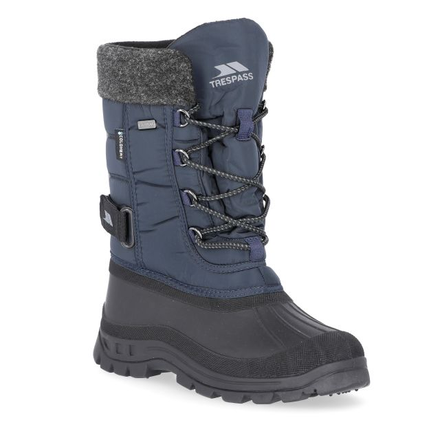 Strachan Youth Boys' Lace Up Snow Boots in Navy