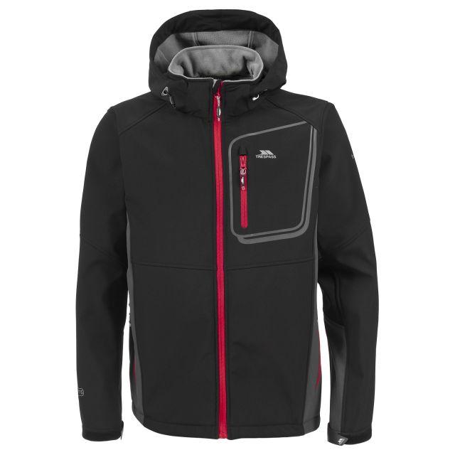 Strathy Men's Softshell Jacket  in Black