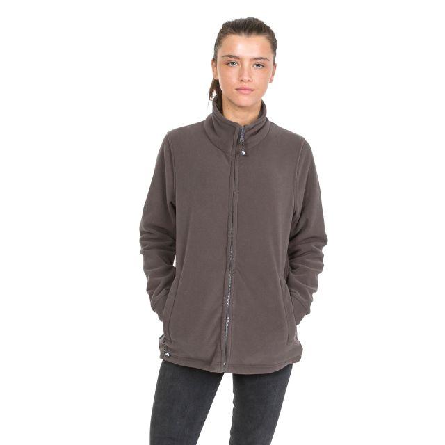 Strength Womens Full Zip Fleece Jacket in Khaki
