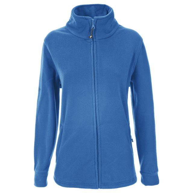 Strength Womens Full Zip Fleece Jacket in Blue