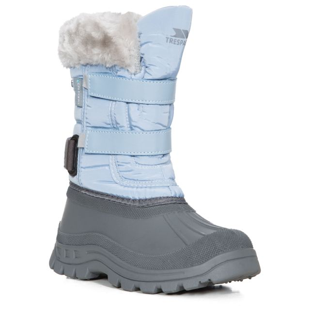 Stroma II Girls' Fleece Lined Snow Boots in Light Blue