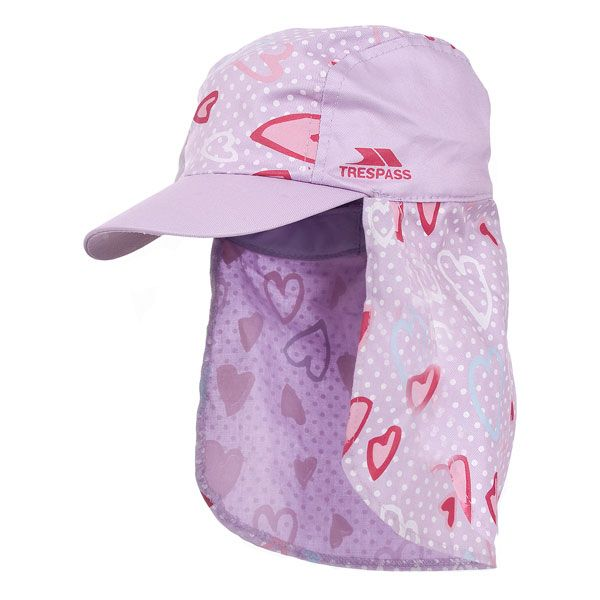 Sugar Puff Kids' Neck Protecting Sun Hat in Pink