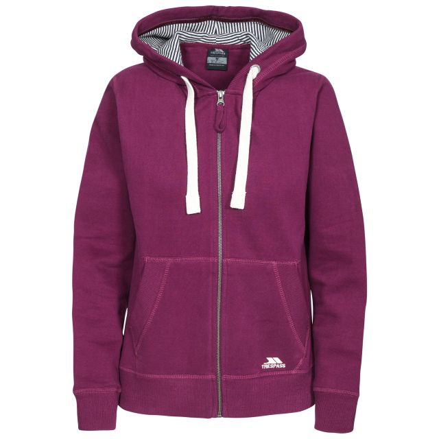 Swag Women's Full Zip Hoodie in Burgundy
