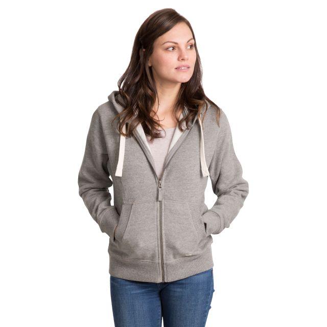 Swag Women's Full Zip Hoodie in Light Grey