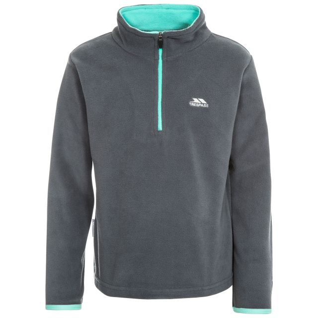 Sybil Kids' Half Zip Fleece in Grey