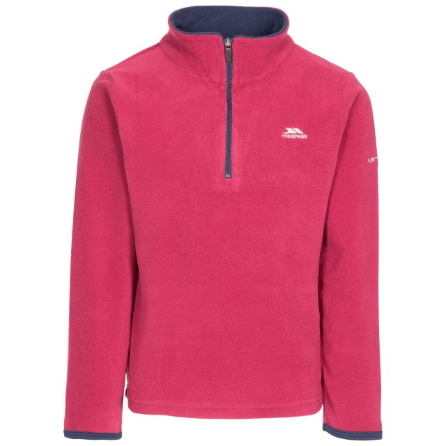 Sybil Kids' Half Zip Fleece in Red