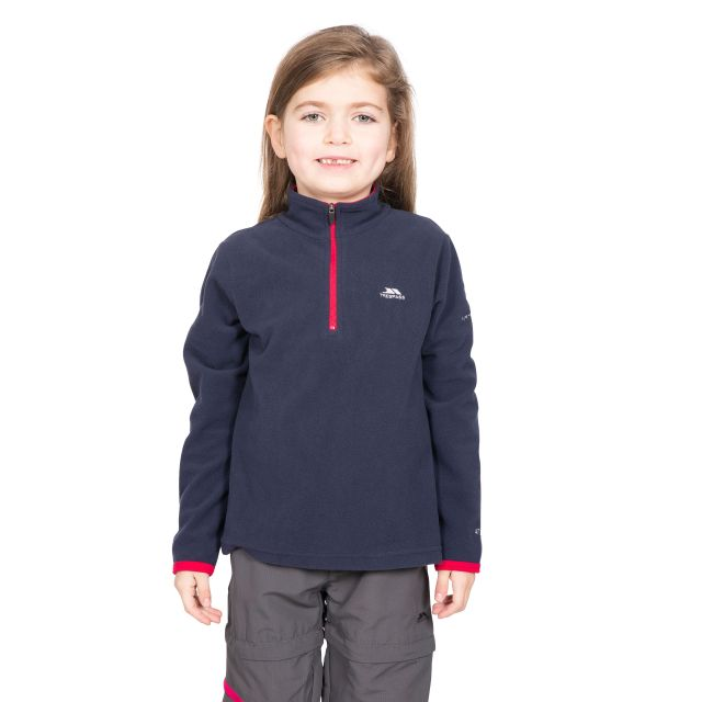 Sybil Kids' Half Zip Fleece in Navy