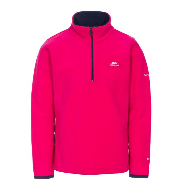 Sybil Kids' Half Zip Fleece in Pink
