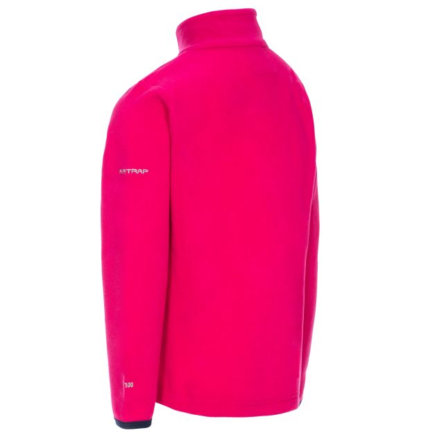 Sybil Kids' Half Zip Fleece in Pink